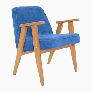 Mid-Century Royal Blue 366 Armchair by Jozef Marian Chierowski