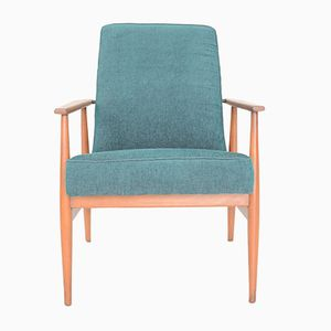 Polish Green Armchair by H. Lis, 1960s