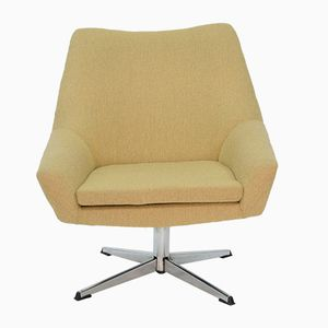 Fauteuil Shell Jaune Clair, Pologne,1970s