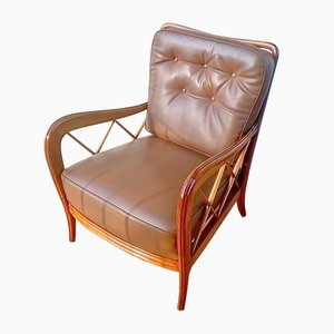 Leatherette Armchair by Paolo Buffa, 1940s