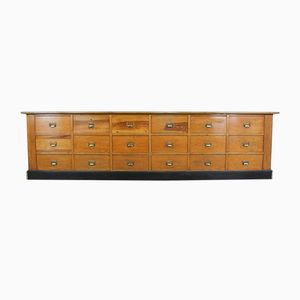 Large Factory Sideboard in Pine with Drawers, 1940s