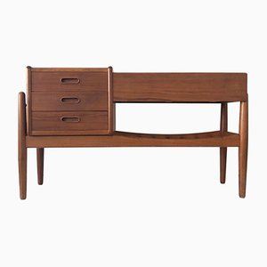 Danish Teak Commode with Planter and 3 Drawers by Arne Vodder for Vinde Møbelfabrik, 1960s
