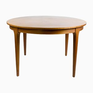 Danish Circular Extendable Dining Table by Frem Røjle, 1960s