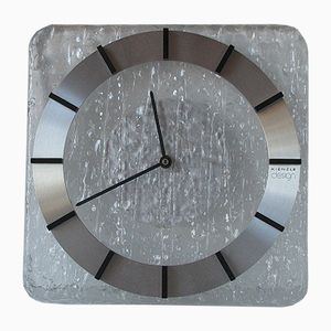 Horloge Murale en Verre Acrylique et Aluminium de Kienzle, 1970s