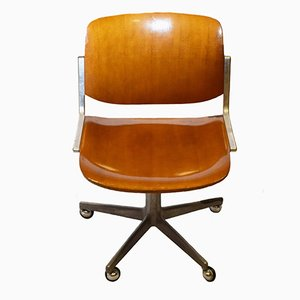 Vintage Office Chair by Giancarlo Piretti for Anonima Castelli