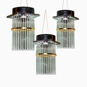 Ceiling Lamps from Sciolari, 1970s, Set of 3