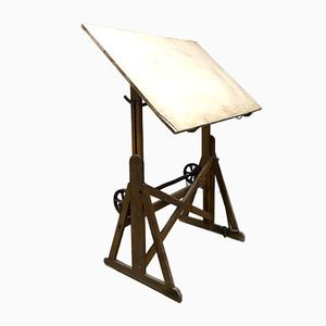 Vintage Industrial Dutch Drawing Table from Ahrend de Cirkel