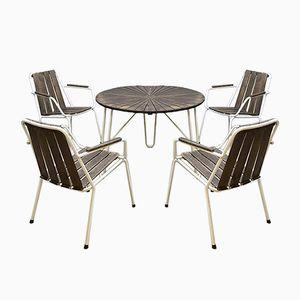 Französischer Vintage Gartentisch und Stühle