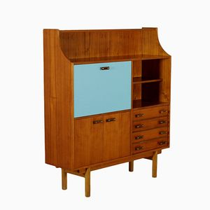 Italienisches Teak Furnier & Formica Highboard, 1960er
