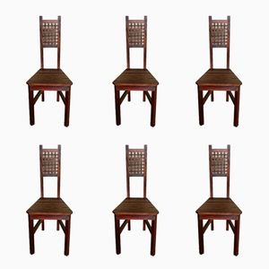 Vintage Indonesian Dining Chairs, 1960s, Set of 6
