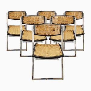 Chaises Pliantes Mid-Century, Italie, 1970s, Set de 6