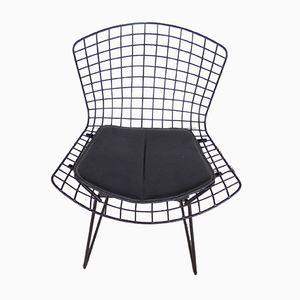 Schwarz Lackierter Vintage Stuhl von Harry Bertoia für Knoll, 1970er
