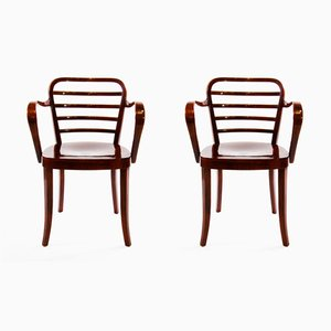 Vintage Bentwood Armchairs by Josef Frank for Thonet, Set of 2
