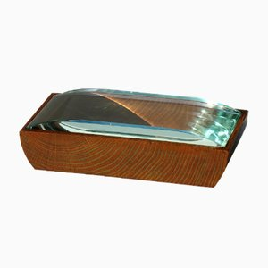 Mid-Century Crystal and Wood Box by Pietro Chiesa for Fontana Arte