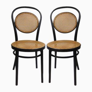 Antique Romanian Bentwood Bistro Chairs, Set of 2