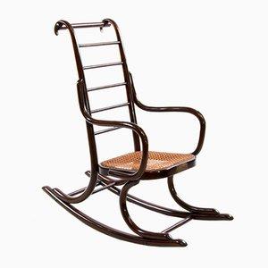 Rocking-Chair pour Enfants Art Nouveau en Bois Courbé par Professor Epstein & Thonet, 1920s
