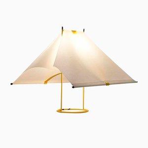 Lampada da tavolo Le Falene gialla di Piero de Martini per Arteluce, anni '70