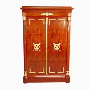 Antique French Mahogany Veneer Wardrobe from Francois Linke