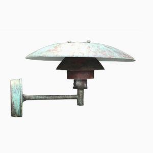 Lampada da parete da esterno Ph 4.5/3 in rame di Poul Henningsen per Louis Poulsen