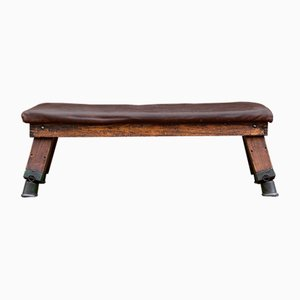 Leather Gym Bench, 1930s