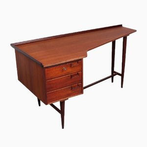 Teak Veneer Boomerang Writing Desk by William Watting for Fristho, 1950s
