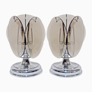 Murano Glass Table Lamps from Vistosi, 1960s, Set of 2