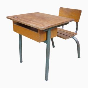 Vintage French School Desk