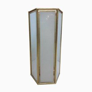 Vintage Brass and Glass Sconce from La Lanterna