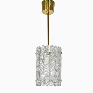 Swedish Modern Cylindrical Crystal Pendant by Carl Fagerlund for Orrefors, 1960s