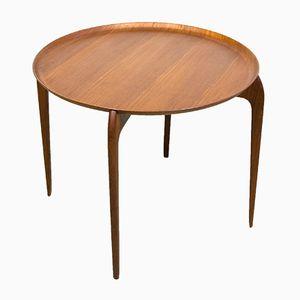 Round Teak Side Table, 1960s