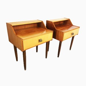 French Bedside Cabinets, 1960s, Set of 2