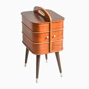 Teak Veneered Sewing Box, 1960s