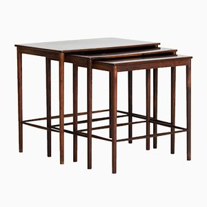 Rosewood Nesting Tables by Grete Jalk for Poul Jeppesens Møbelfabrik, 1960s