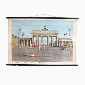 Poster vintage raffigurante la porta di Brandeburgo