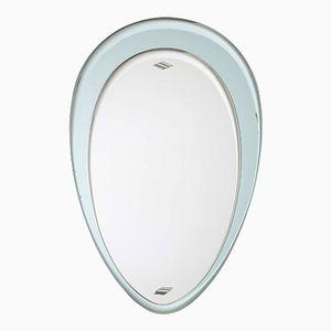 Specchio con cornice blu chiara, Italia, anni '60