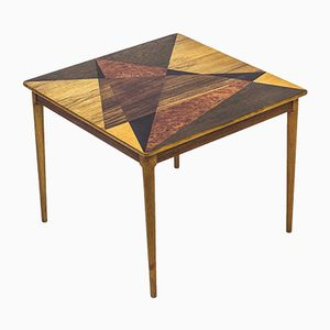 Swedish Table with Geometrical Marquetry from Svenska Möbelfabrikerna, 1950s