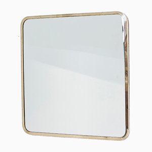 Schwedischer Spiegel mit Rahmen aus Messing von Ivar Björk für Ystad- Metall, 1950er