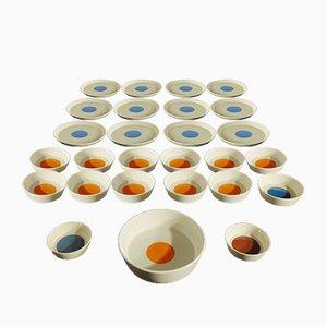 Italian Piatti Ceramic Set by Gio Ponti for Franco Pozzi, 1960s