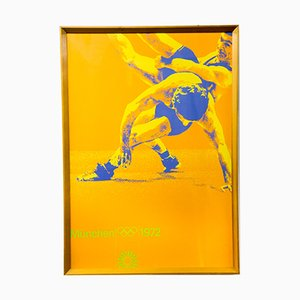 Serigrafia vintage delle olimpiadi di judo a Monaco, 1972
