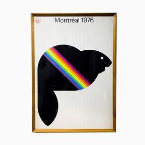 Poster vintage delle olimpiadi a Montereal, 1976