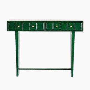 Italienischer Grüner Vintage Konsolentisch, 1930er