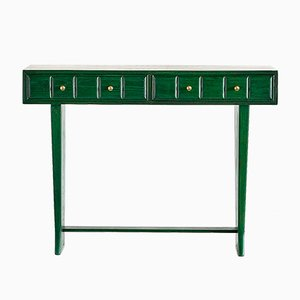 Vintage Italian Green Console, 1930s