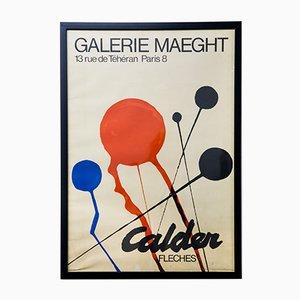 Poster vintage Alexander Calder per la Galerie Maeght, anni '70