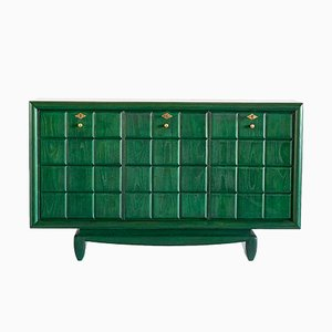 Italienischer Grüner Vintage Schrank, 1930er