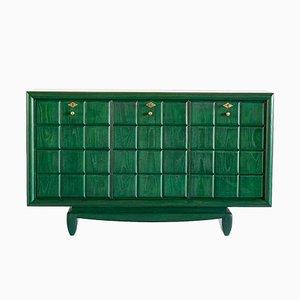 Vintage Italian Green Cabinet, 1930s