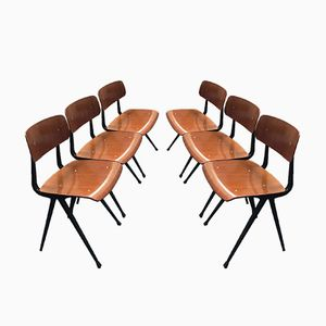 First Edition Result Chairs by Friso Kramer, 1969, Set of 6