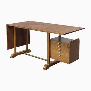 Mid-Century Italian Oak Desk by Alberto Sissel, 1950s