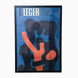 Affiche Fernand Léger Vintage, 1968
