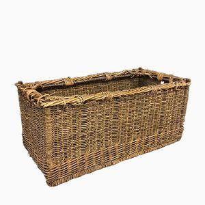 Vintage Stackable Rattan Basket