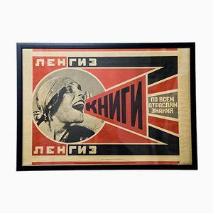 Poster Mid-Century con riproduzione di Alexander Rodchenko, anni '60